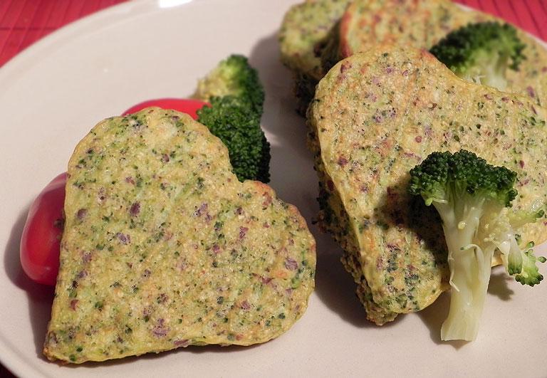 Zamilovaná brokolicová srdíčka