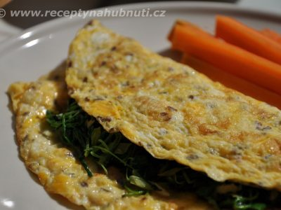 Omeleta s rukolou