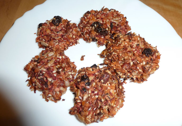 Sušenky z červené řepy