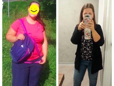 Veronika zhubla z velikosti 48 na 42